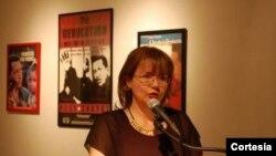 La embajadora para Venezuela en Ecuador, Carol Delgado Arria. Foto de la página de la embajada venezolana en Quito.