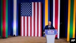 បេក្ខជនប្រធានាធិបតីខាងគណបក្សប្រជាធិបតេយ្យលោក Joe Biden ថ្លែងនៅក្នុងព្រឹត្តិការណ៍ប្រចាំឆ្នាំ «ខែវប្បធម៌សហគមន៍ Hispanic» នៅថ្ងៃអង្គារ ទី១៥ ខែកញ្ញា ឆ្នាំ ២០២០ នៅទីក្រុងKissimmee រដ្ឋ Florida។