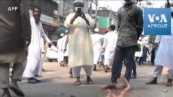 Au Bangladesh, des dizaines de milliers de manifestants contre la France