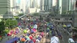 香港佔領運動呼籲政府舉行公投