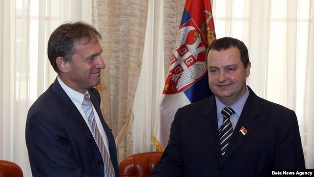 Šef delegacije EU u Srbiji Vensan Dežer i premijer Srbije Ivica Dačić
