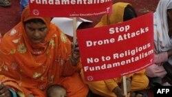 Người Pakistan xuống đường biểu tình lên án các cuộc tấn công bằng không người lái của Mỹ trong vùng bộ tộc của Pakistan gần biên giới Afghanistan