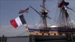 Bản sao chiến hạm Tự do thế kỷ 18 du hành quanh hải cảng Mỹ