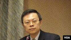 台灣陸委會主委王郁琦3月20日在立法院(美國之音申華拍攝)