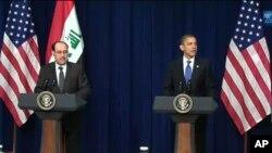 ئۆباما و مالیکی بهرامبهر دهسـتپـێـکردنی قۆناغێـکی نوێ له عێراق خۆشـحاڵی خۆیان دهردهبڕن