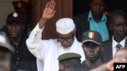 FILES - Former Chadian President Hissene Habre outside Dakar court, July 02, 2013. Habre died Aug. 24, 2021, at the age of 79 in Senegal, where he was sentenced to life imprisonment in 2016 for crimes against humanity.