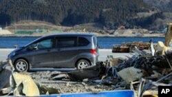 图为日本福岛震灾海啸灾区一年之后