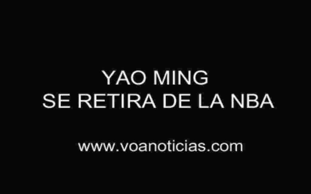 Yao Ming se retira de la NBA