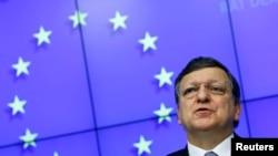 FILE - European Commission President Jose Manuel Barroso.