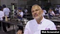 Ông Erani Gouvea, giám đốc giáo dục của phong trào bếp núc Gastromotiva.
