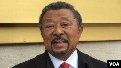 Jean Ping, chef de l'opposition gabonaise, lors d'une visite à Washington DC, 15 novembre 2016.