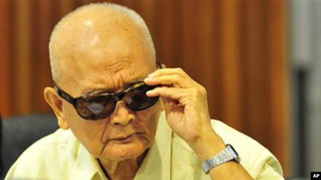 """Nuon Chea, who is on trial for atrocity crimes alongside two other Khmer Rouge leaders, told the court Wednesday he """"didn't play a role in the management of S-21."""""""