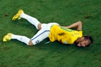 Neymar out with back injury.
