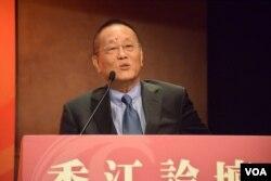 台灣泛藍學者文化大學中山與中國大陸研究所教授邵宗海表示,明年台灣總統大選的結果,仍存在不可預測的變化。(美國之音湯惠芸)