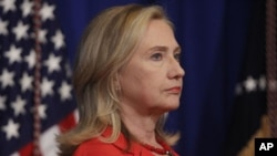 U.S. Secretary of State Hillary Rodham Clinton, Nov. 18, 2011 (file photo).