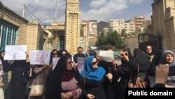 تجمع سکوت معلمان ایرانی در استان البرز - ۲۰۱۵