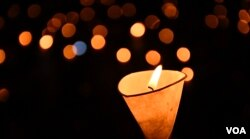 香港支聯會六四30周年悼念死難者的燭光。 (美國之音湯惠芸攝)