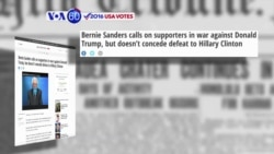 VOA60 Elections - New York Daily News: Bernie Sanders called on his supporters in a war to defeat Donald Trump