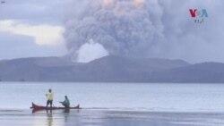 فلپائن کے آتش فشاں پہاڑ سے لاوا نکلنا شروع