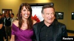 Robin Williams dan istrinya Susan Schneider (Foto: dok.)