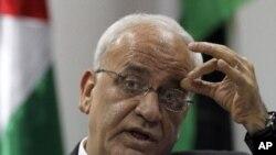 3일 회담에 참석한 팔레스타인의 사엡 에레카트 수석대표