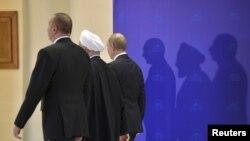 İlham Əliyev, Həsən Ruhani və Vladimir Putin