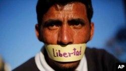 Erkinlik talab qilayotgan Venesuela jurnalisti