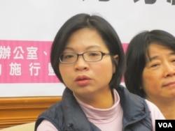 台湾在野党民进党立委林淑芬(美国之音张永泰拍摄)