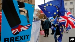 Protesti protiv izlaska Britanije iz EU u Londonu, 6. decembar 2018.