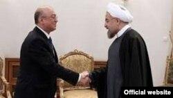Azərbaycanın fövqəladə hallar naziri Kəmaləddin Heydərov İran prezidenti Həsən Ruhani ilə görüşüb