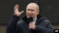 俄羅斯總理普京2月23日在莫斯科發表講話