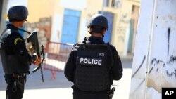 La police tunisienne, 8 mars 2016.