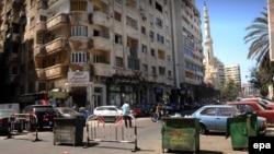 Des barricades de police érigées à Alexandrie, en Egypte, 25 avril 2016. epa/ MAHMOUD TAHA ÉGYPTE OUT
