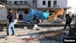 Četvrt u Alepu posle ruskih vazdušnih napada
