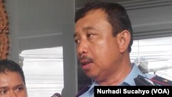Marsma Imran Baisirus, Komandan Pangkalan Udara TNI AU Adisucipto, Yogyakarta. (VOA/Nurhadi Sucahyo)