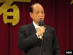 台湾海基会董事长林中森(美国之音 张永泰拍摄)
