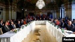 Para diplomat 17 negara anggota Kelompok Pendukung Suriah (ISSG) bertemu di Wina, Austria hari Selasa (17/5).
