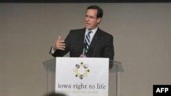 Cựu thượng nghị sĩ Cộng Hòa Rick Santorum tuyên bố tham gia cuộc chạy đua 2012 vào Tòa Bạch Ốc