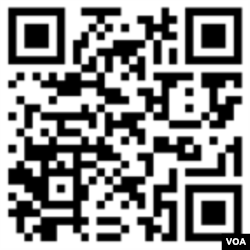 When your phone camera reads a QR code, it takes you to a website, image, video or anything you want to share. This one will take you to the VOA Learning English website.