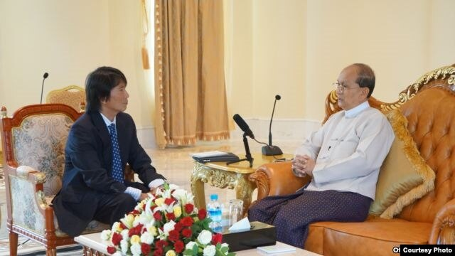 Burmese Service chief Than Lwin Htun and President Thein Sein
