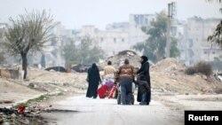 تصویری از آوارگان در حلب