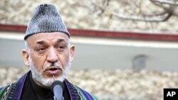 阿富汗總統卡爾扎伊。