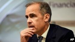 Mark Carney, gobernador del Banco de Inglaterra, ofreció una conferencia de prensa en Londres, el martes, 5 de julio de 2016.
