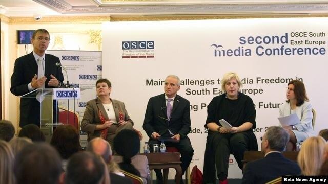 """Medijska konferencija za jugoistocnu Evropu u organizaciji OEBS-a pod nazivom """"Glavni izazovi za slobodu medija u jugoistocnoj Evropi - kreiranje politike za buducnost""""."""