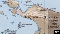 Peta wilayah Jayapura, Irian Jaya.
