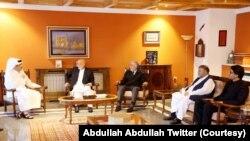 دیدار آل ثانی با حامد کرزی و عبدالله عبدالله