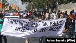 Manifestação no funeral de Amurane