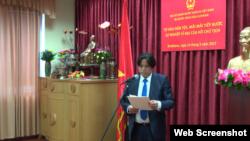 Ông Lê Hồng Quang phát biểu tại một sự kiện ở Đại sứ quán Việt Nam tại Bratislava, Slovakia. Photo Đại sứ quán Việt Nam tại Bratislava