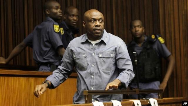 Nigerian terror suspect Henry Okah, in court in Johannesburg, January 21, 2013.