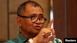 Ketua Komisi Pemberantasan Korupsi (KPK), Agus Rahardjo memberikan keterangan kepada media di Jakarta, Rabu (15/3).